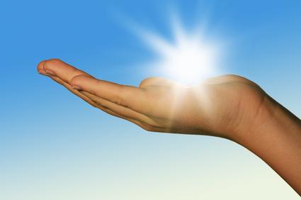 Sonne auf der Hand II